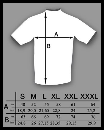 size-t-shirt a polo