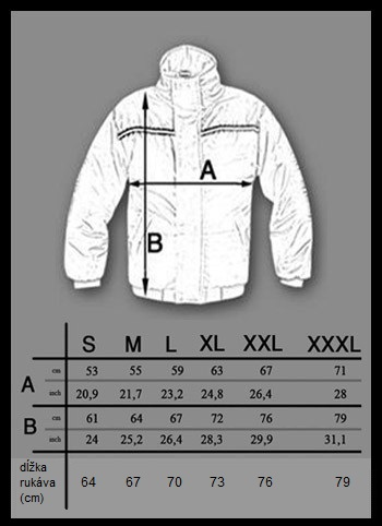 winter jacket_size